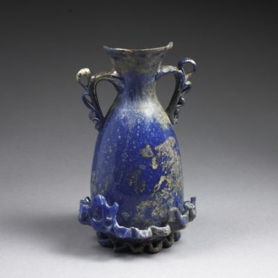 Afghan Blue Glass Vessel