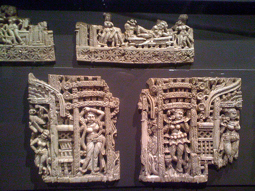 Afghan Ivory Carvings for Furniture