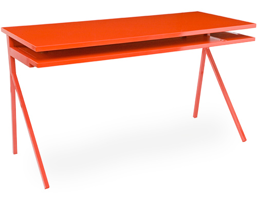 orange desk 51 blu dot