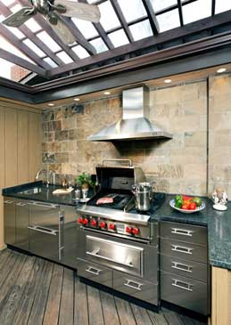 Wednesday word on interior design top 5 musts for an for Outdoor kitchen shed