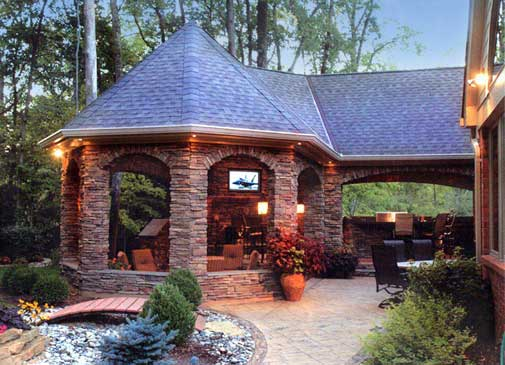 Wednesday word on interior design top 5 musts for an for Outdoor kitchen pavilion designs