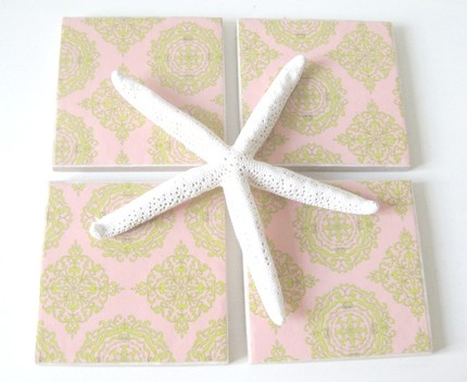 Shorely Chic Moroccan Coasters Drink Gift Hostess Decoupage Etsy