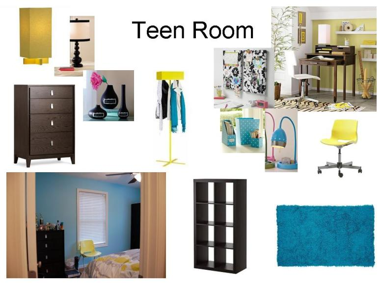 teen, bedroom, study, interior design, inspiration, board