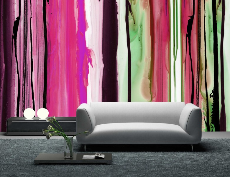 modern, wallpaper, color, Tracy Hiner, Black Crow Studios, interior design
