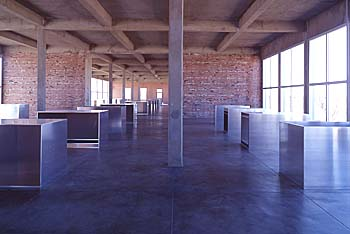 Chinati, Texas, aluminum, form, sculpture, art, donald judd