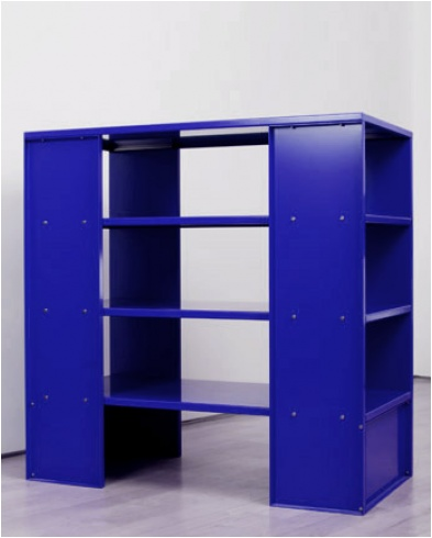 bookshelf, furniture, color, donald judd