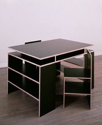donald judd, furniture, art, color