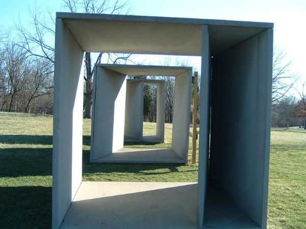 donald judd, sculpture, form, St. Louis, outdoors, art