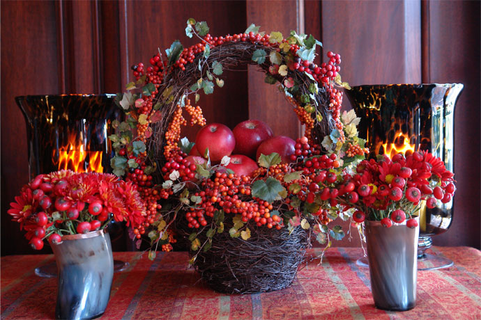 apples, fall, decor, carolyne roehm, color