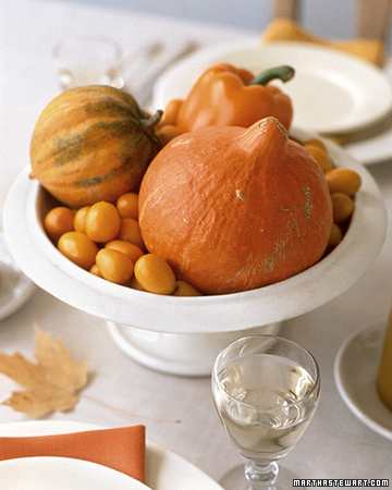 martha stewart, centerpiece, fall, decor, pumpkin, gourd