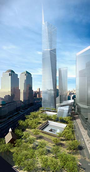 Michael Arad, Peter Walker, memorial, 9/11, refelcting pool, absence, WTC, Freedom Tower