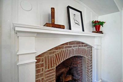 Cococozy, fireplace, brick, traditional, accessories