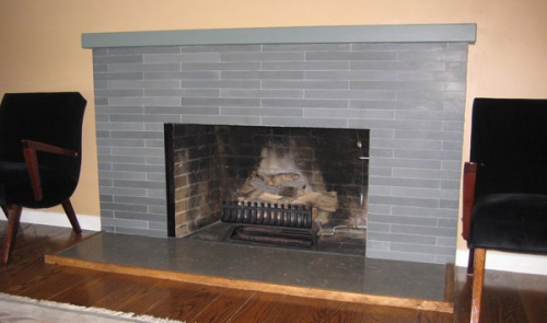 fireplace, grey, stone, brick, modern