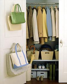 organization, coat closet, interior design, Martha Stewart