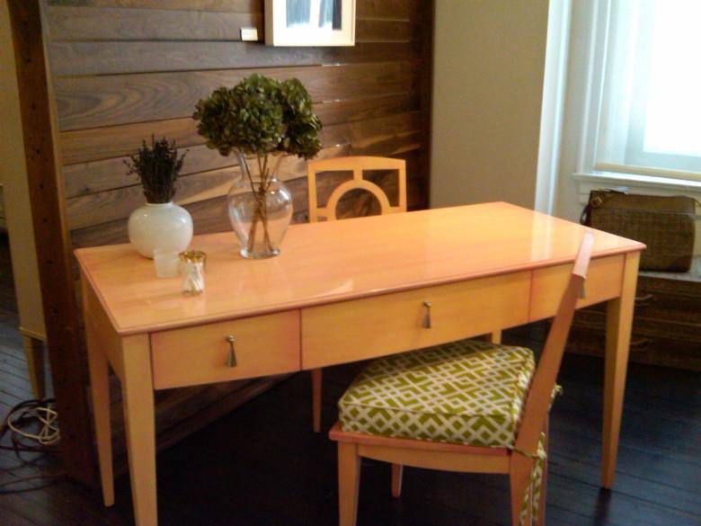desk, color, finish, furniture, new traditionalists, interior design