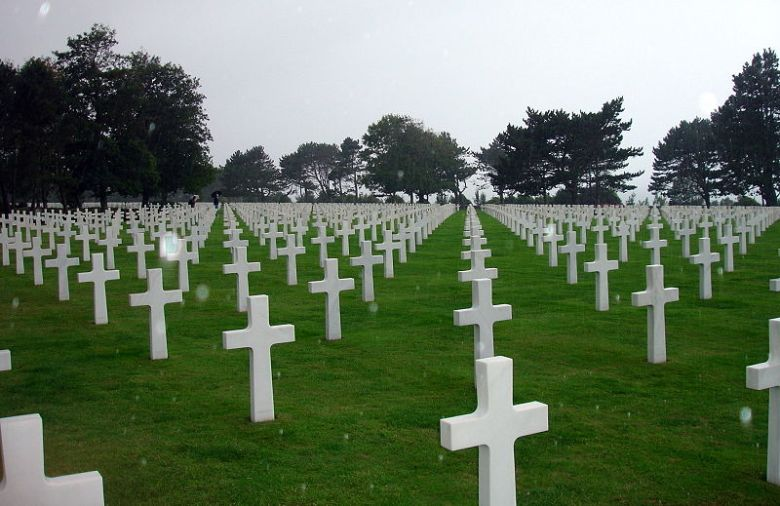 american cemetery, normandy, france, d day, WW II