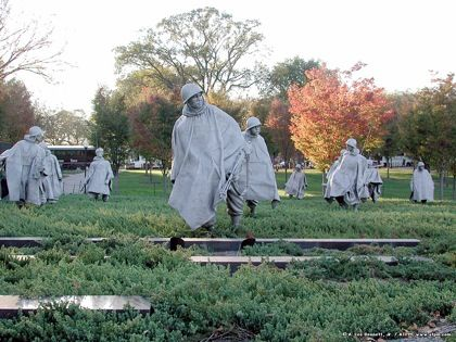 Korean War, memorial, veterans day, sculpture