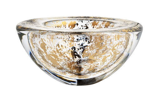 kosta boda, gold, bowl, glass, interior decor, shopping, holiday