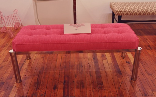 breast cancer, Susan G. Komen, pink, Irwin Feld, bench, furnishings, mid century modern