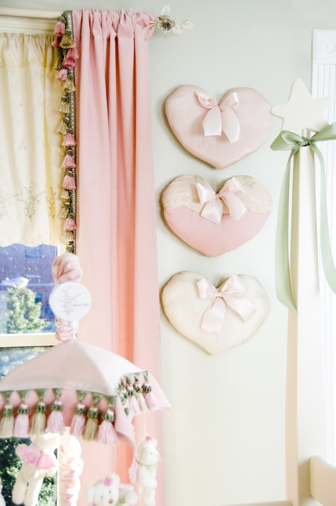 tinytotties, hearts, pink, girls, decor, interior design, room