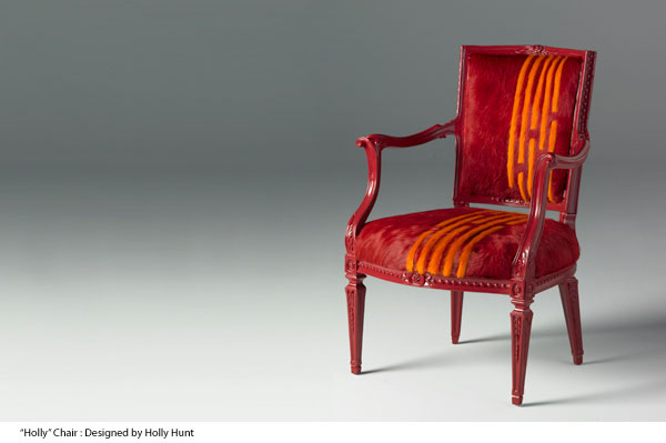 Kyle Bunting, art, chair, Holly Hunt, hide, interior design, furniture, color