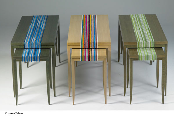 Kyle Bunting, table, console, interior design, hide, color