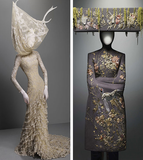 alexander mcqueen, lace, embroidery, metropolitan museum, nyc, savage beauty