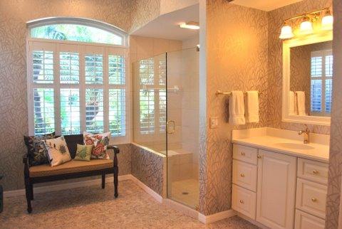 master, bath, interior design, shower, seating
