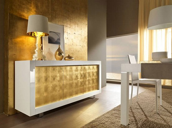 Riflesi, interior design, gold, furniture, modern, italian